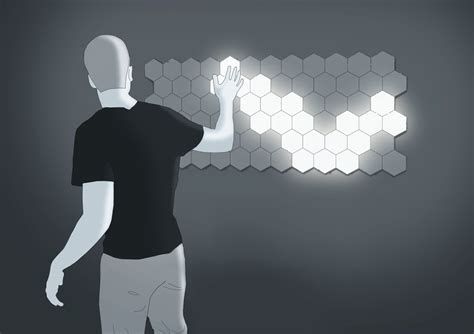 Helios Lighting by Helios Touch Turns Your Wall Into A Beehive Like