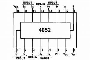 Cmos-logic Ic Mux 4052 So16