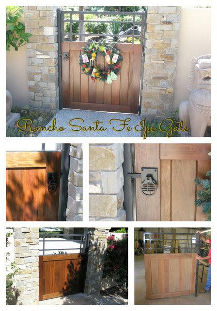rancho santa fe ipe entry gate  asian gate hardware