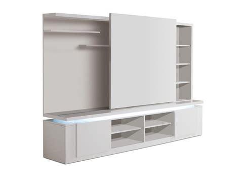 porte cuisine chene mur tv design avec porte coulissante et éclairage mallaury