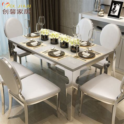 ikea modern dining table rectangular marble dining tables and chairs combination