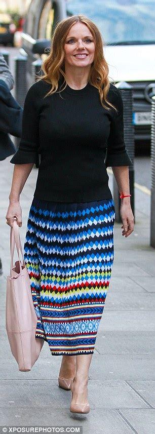 geri horner nickname geri horner shows off post baby figure in london daily