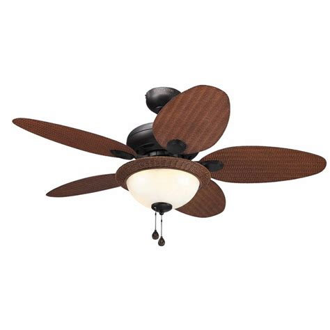 harbor breeze outdoor ceiling fan shop harbor breeze tilghman 44 in aged bronze downrod or