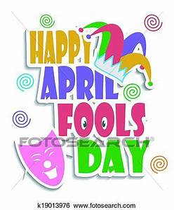 Clip Art of Happy April Fools day k19013976 - Search ...