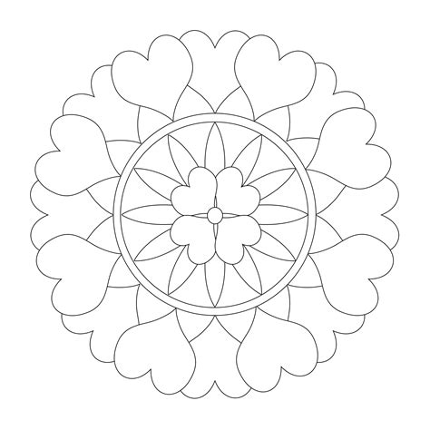 printable mandala coloring pages  adults  coloring pages  kids