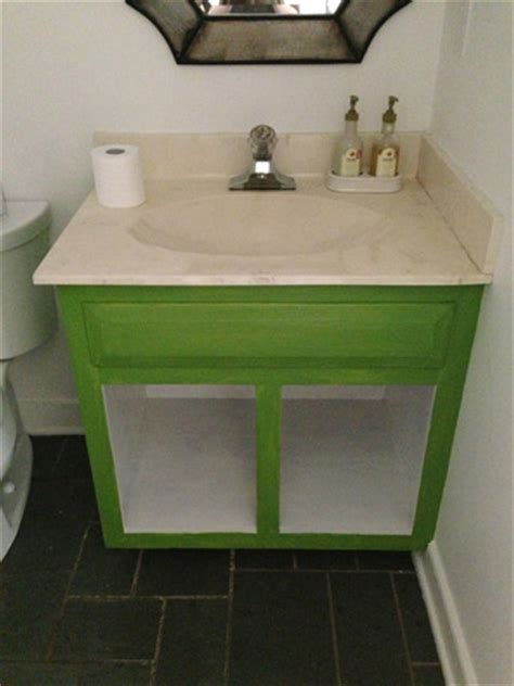 How To Install Bathroom Vanity Against Wall - how to remove a dated vanity backsplash house