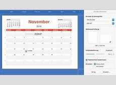 Numbers Vorlage Kalender 2018 Numbersvorlagende