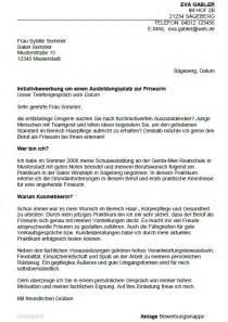 Bewerbung Ausbildung Zum Friseur Sofort Download