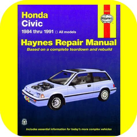 car engine manuals 1989 honda civic free book repair manuals repair manual book honda civic 84 91 owners shop engine ebay