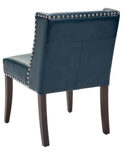 marlin blue leather dining chair set of 2 from sunpan