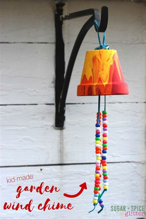 kid craft idea homemade garden wind chime  sweet gift