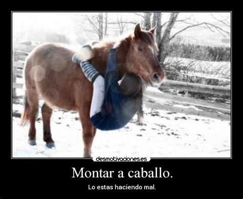 montar  caballo desmotivaciones