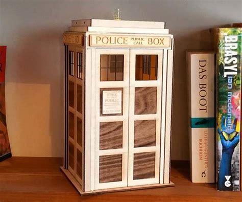 Tardis Cupboard by Handmade Doctor Who Tardis Wooden Led L Gadgetsin
