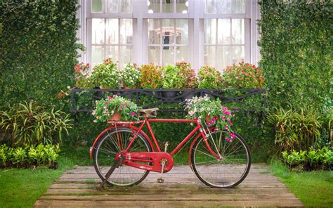 Images Of Pink Bathrooms by 33 Bicycle Flower Planters For The Garden Or Yard