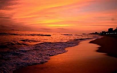 Sunset Beach Skyline Beaches Desktop Backgrounds Wallpapers