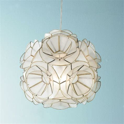 capiz shell flower pendant light unique ceiling lights