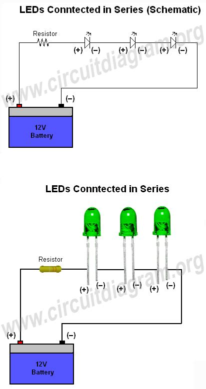 How Connect Wire Leds Circuit Diagram