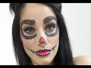 Maquillage D Halloween Pour Fille : maquillage halloween d butante poup e mexicaine patricia youtube ~ Melissatoandfro.com Idées de Décoration