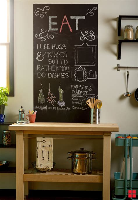 Painted Kitchen Ideas - how to make a chalkboard wall