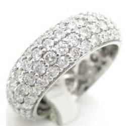 amethyst wedding rings 3 20ctw eternity four row women 39 s diamond wedding band b3