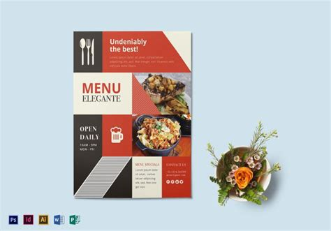 awesome catering flyer templates  ai psd