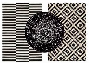 tapis coton laine motif noir et blanc style scandinave With tapis noir et blanc scandinave