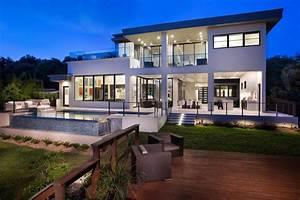 maison moderne architecte cgrio With plan de maison moderne 11 maison contemporaine en floride au design luxueux et