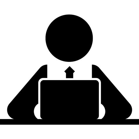 top office bureau computer worker on side view free computer icons