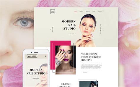 plantilla web   sitio de salones de manicura