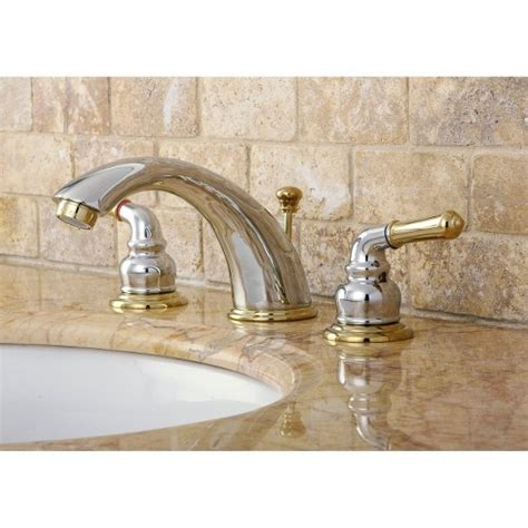 Target Bathroom Fixtures by Widespread Two Tone Bathroom Faucet Chrome Polished Brass