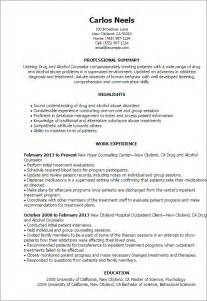 resume cover letter for substance abuse counselor rehab counselor resume