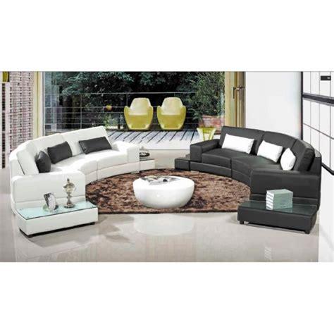canape arrondi canapé d 39 angle arrondi cuir noir achat vente