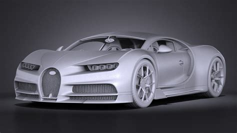New Model Of Bugatti by Bugatti Chiron 2017 3d Model Max Obj 3ds Fbx C4d Lwo Lw