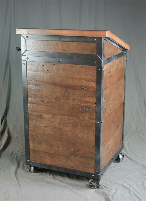 Combine 9   Industrial Furniture ? Industrial Hostess Stand
