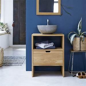Meuble Vasque 60 : meuble salle de bain vente de meubles en teck simple vasque tikamoon ~ Teatrodelosmanantiales.com Idées de Décoration