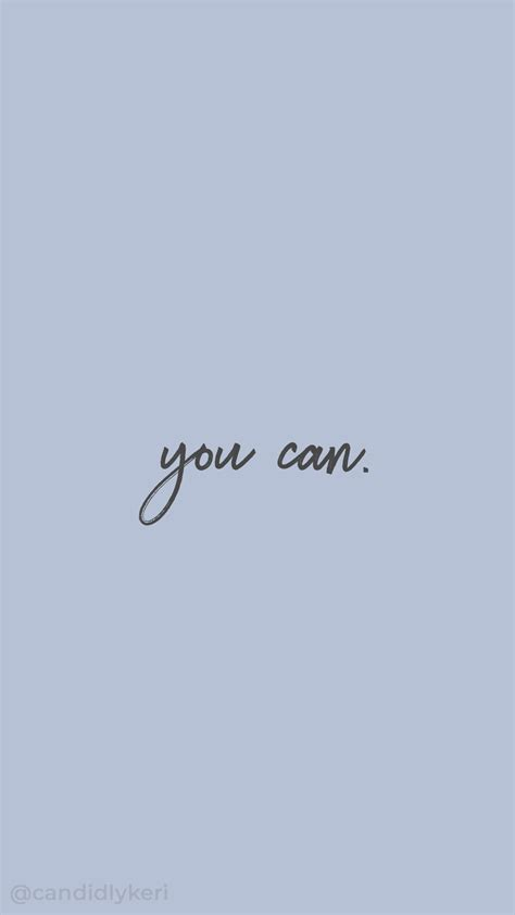 You Can Inspirational Motivational Quote Gray And Blue