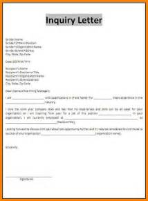 Inside Sales Cover Letter 2 Exles Of Letter Of Inquiry Resume Emails