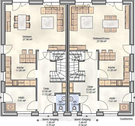 Moderne Doppelhaushälfte Grundrisse by Grundrisse Doppelhaush 228 Lfte