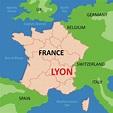 Lyon Map - Download Free Vectors, Clipart Graphics ...