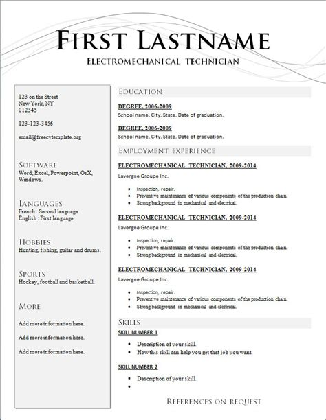 The Best Resume Template by Resume Format Ymshzt Yourmomhatesthis