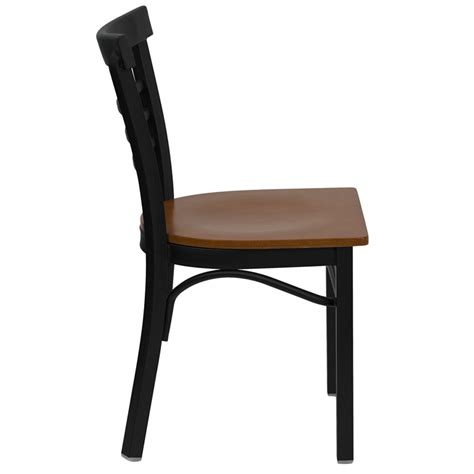 ladder back bentwood style metal frame side chair fl6q6b1c