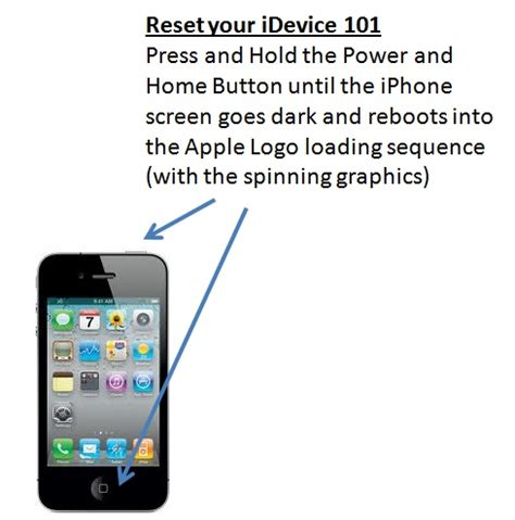 iphone 4 reset how to reset or reboot your idevice iphone or ipod