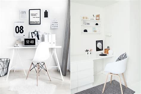 bureau noir et blanc inspiration aménager un coin bureau