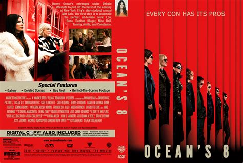 Ocean's Eight DVD Cover - Cover Addict - DVD and Bluray Covers