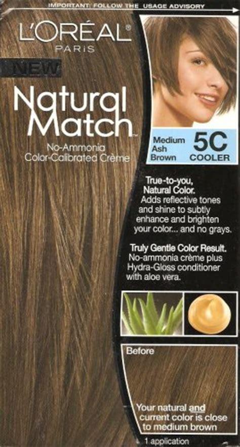 loreal natural match hair color    medium ash brown