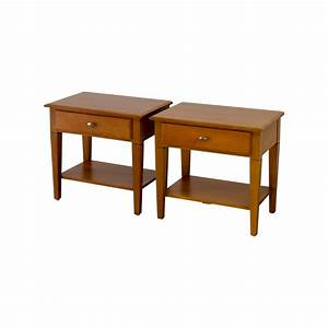 56% OFF - Ethan Allen Ethan Allen Single Drawer End Tables