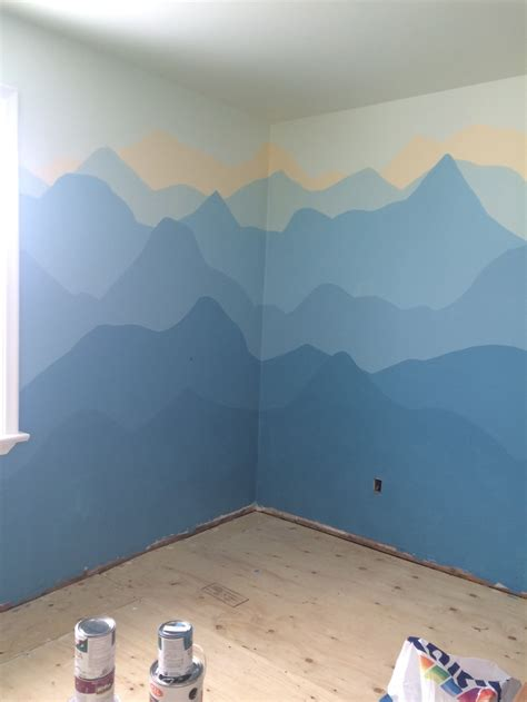 hail ombre mountain  wall mural nomming  bonbons