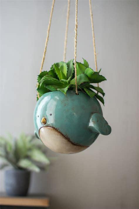 ceramic hanging planter ceramic hanging planter blue bird