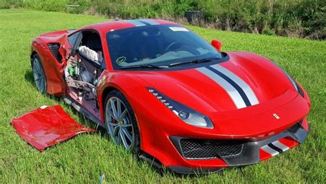 Exclusive access to marked down lease vehicles. Would You Pay $417,000 for This Totaled 2019 Ferrari 488 Pista With 149 Miles?