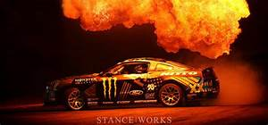 The Monster Energy / Nitto Tire Ford Mustang RTR - Fire Drift!